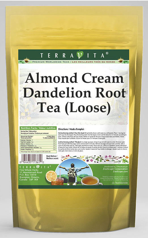 Almond Cream Dandelion Root Tea (Loose)
