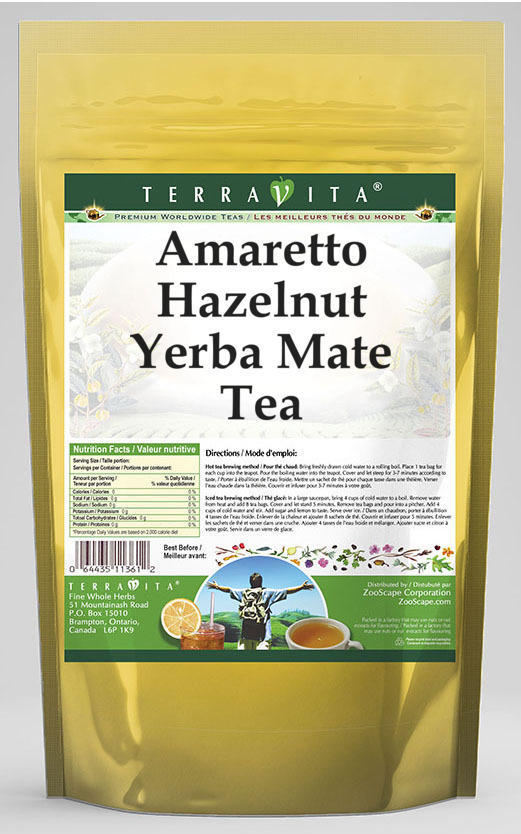 Amaretto Hazelnut Yerba Mate Tea