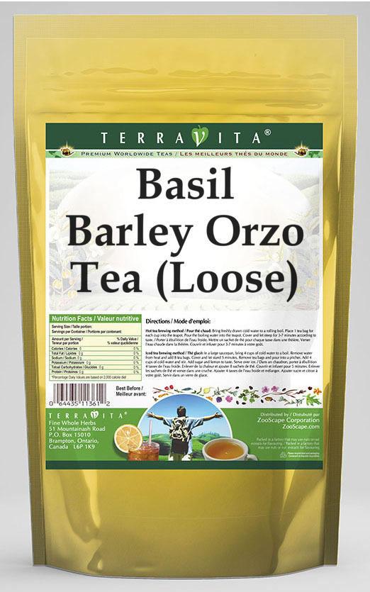 Basil Barley Orzo Tea (Loose)