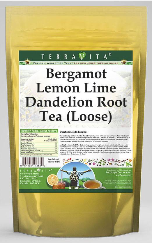 Bergamot Lemon Lime Dandelion Root Tea (Loose)