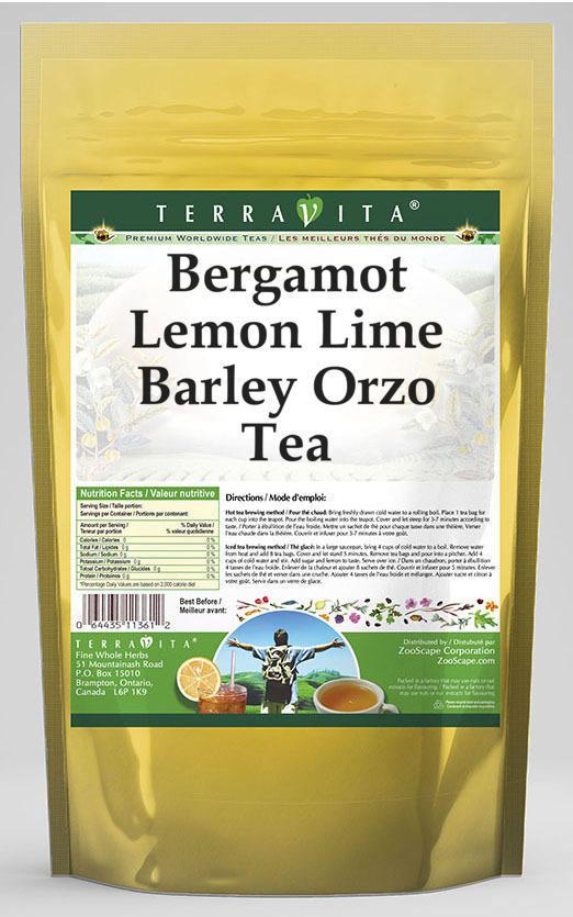 Bergamot Lemon Lime Barley Orzo Tea
