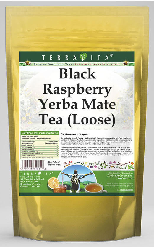 Black Raspberry Yerba Mate Tea (Loose)