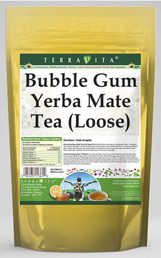 Bubble Gum Yerba Mate Tea (Loose)