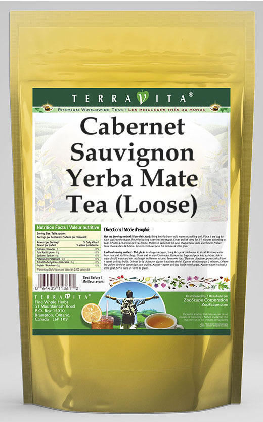 Cabernet Sauvignon Yerba Mate Tea (Loose)