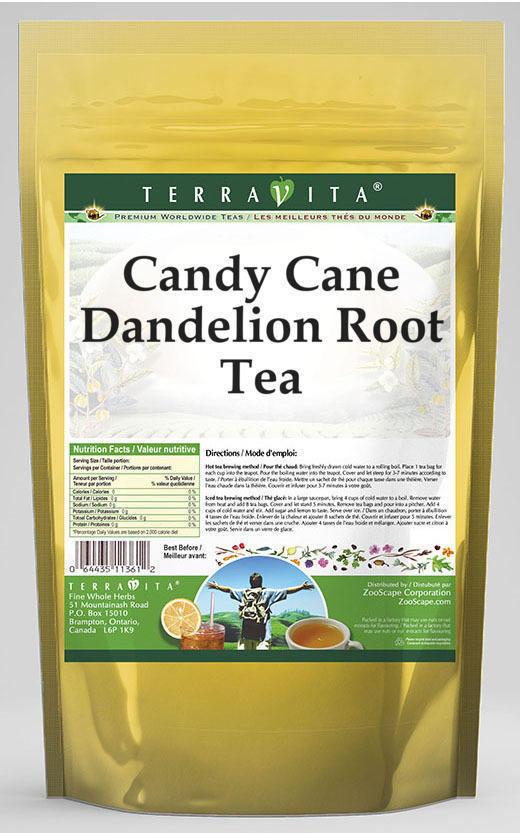 Candy Cane Dandelion Root Tea