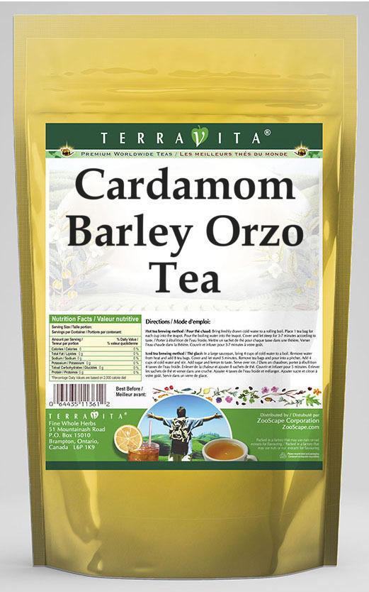 Cardamom Barley Orzo Tea