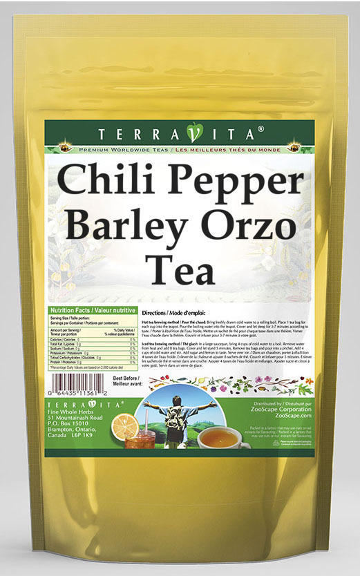 Chili Pepper Barley Orzo Tea