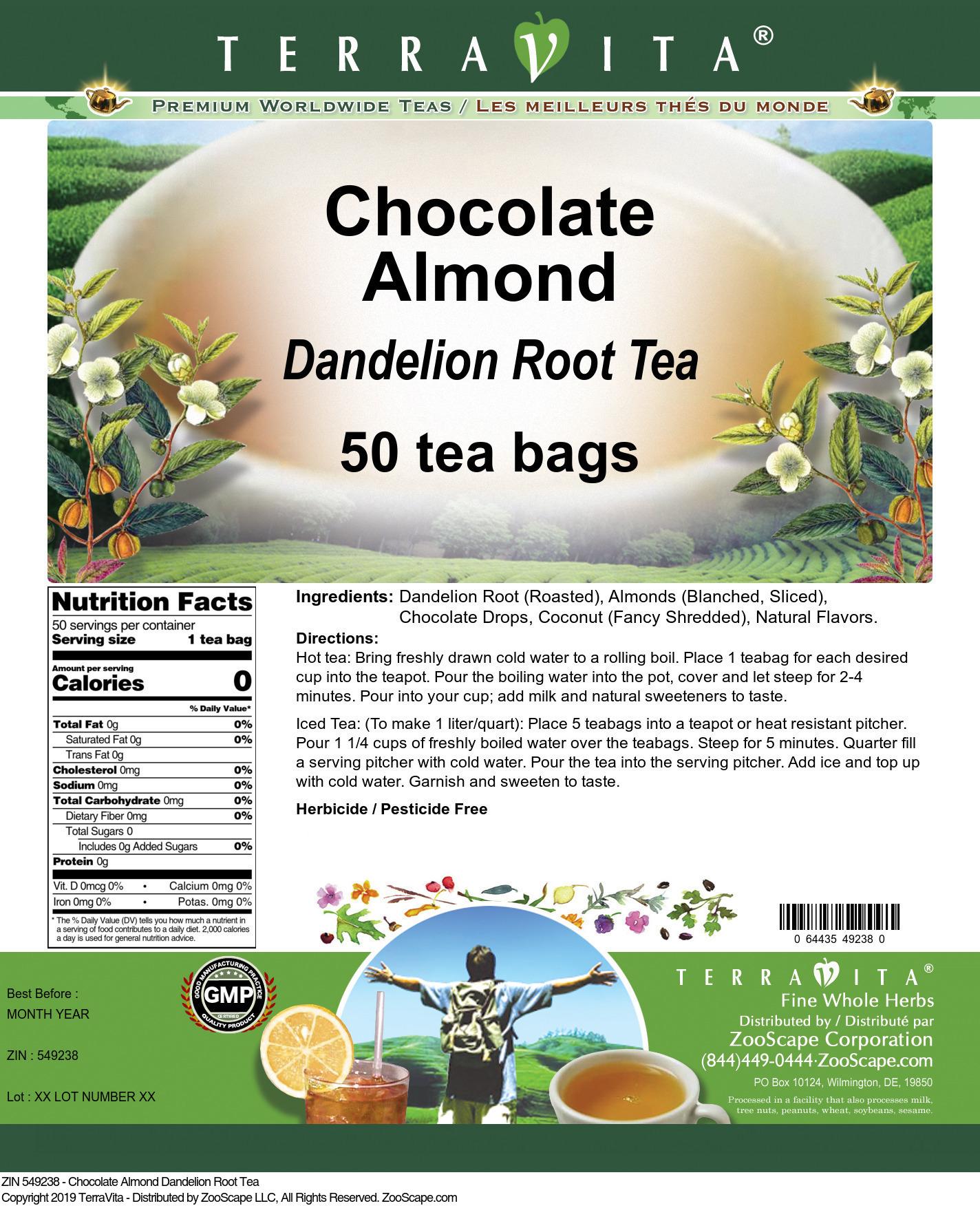 Chocolate Almond Dandelion Root Tea