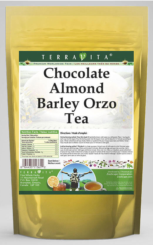 Chocolate Almond Barley Orzo Tea