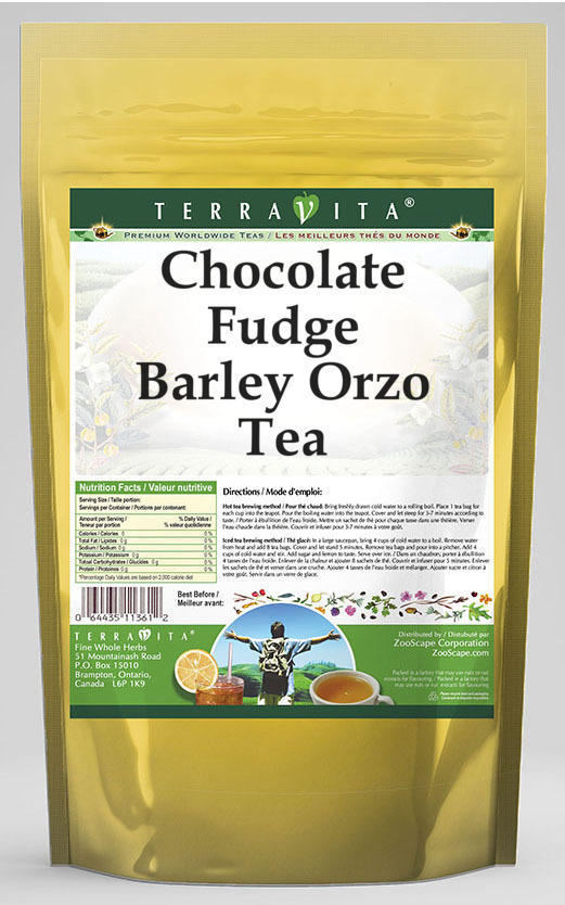 Chocolate Fudge Barley Orzo Tea
