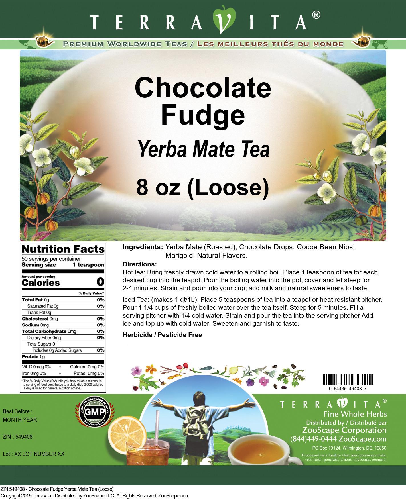 Chocolate Fudge Yerba Mate Tea (Loose)