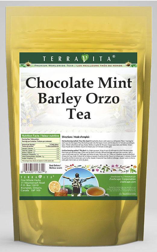 Chocolate Mint Barley Orzo Tea