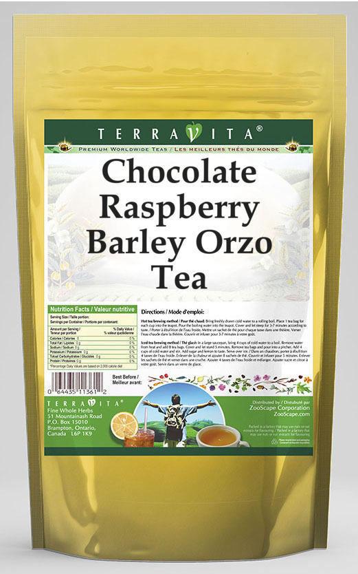 Chocolate Raspberry Barley Orzo Tea