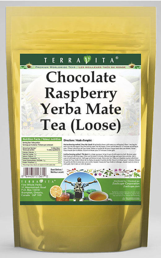 Chocolate Raspberry Yerba Mate Tea (Loose)