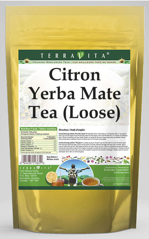 Citron Yerba Mate Tea (Loose)