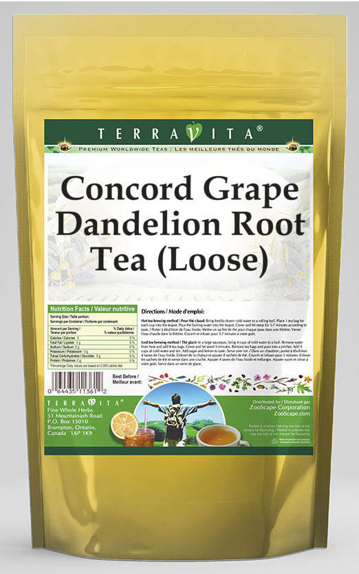 Concord Grape Dandelion Root Tea (Loose)