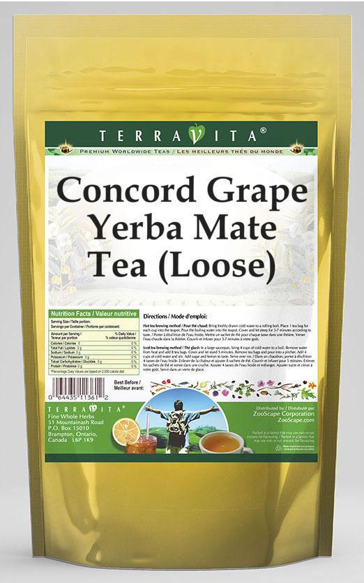 Concord Grape Yerba Mate Tea (Loose)