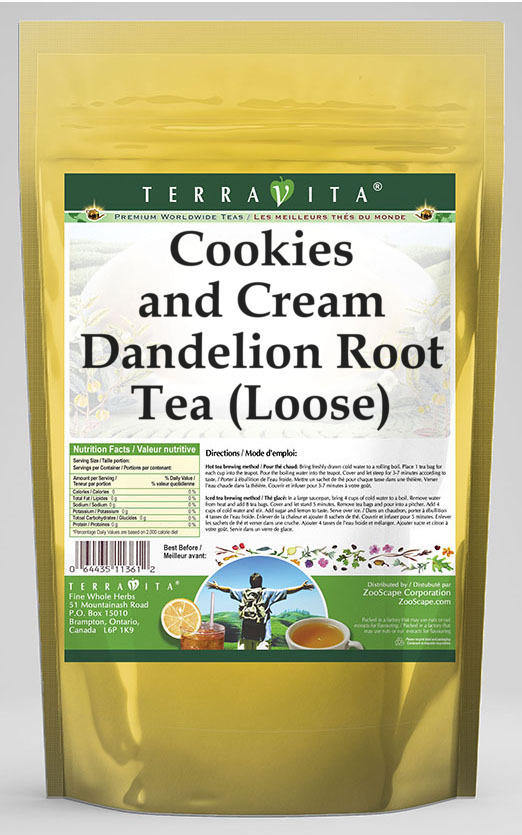 Cookies and Cream Dandelion Root Tea (Loose)