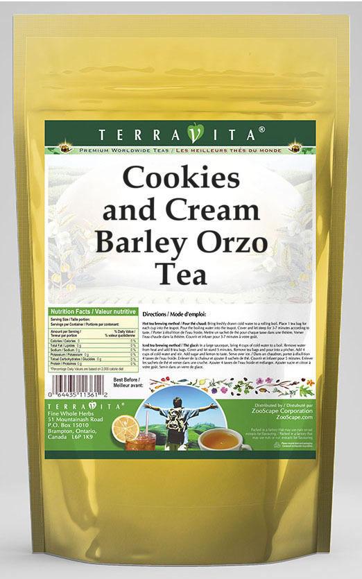 Cookies and Cream Barley Orzo Tea