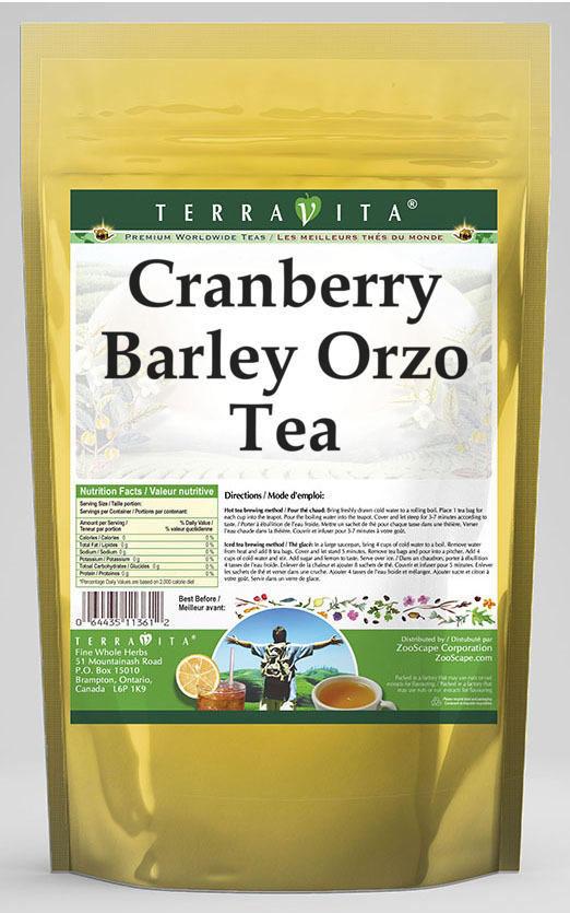 Cranberry Barley Orzo Tea