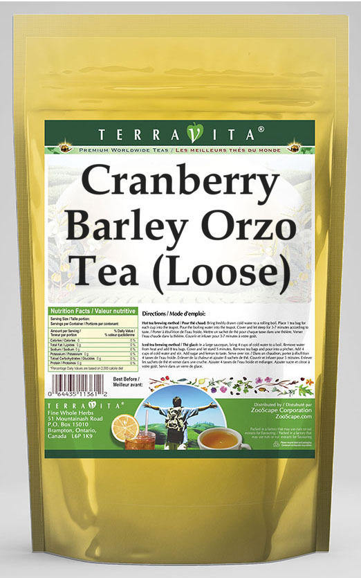 Cranberry Barley Orzo Tea (Loose)