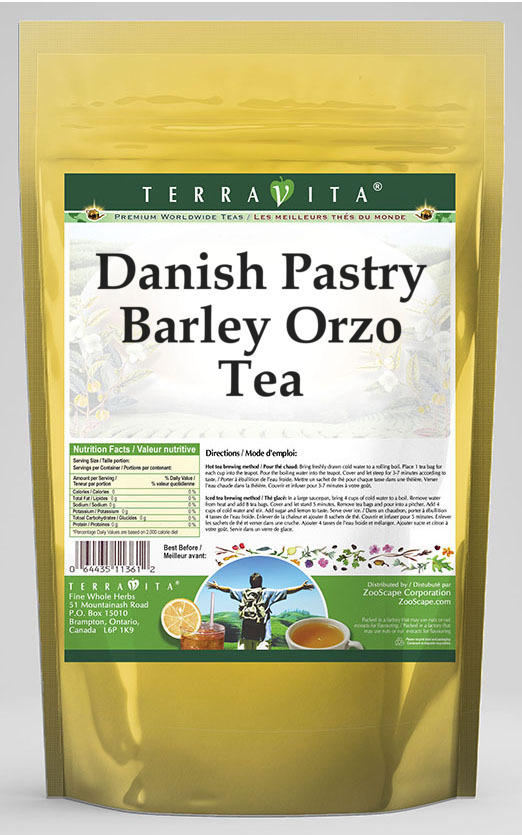Danish Pastry Barley Orzo Tea
