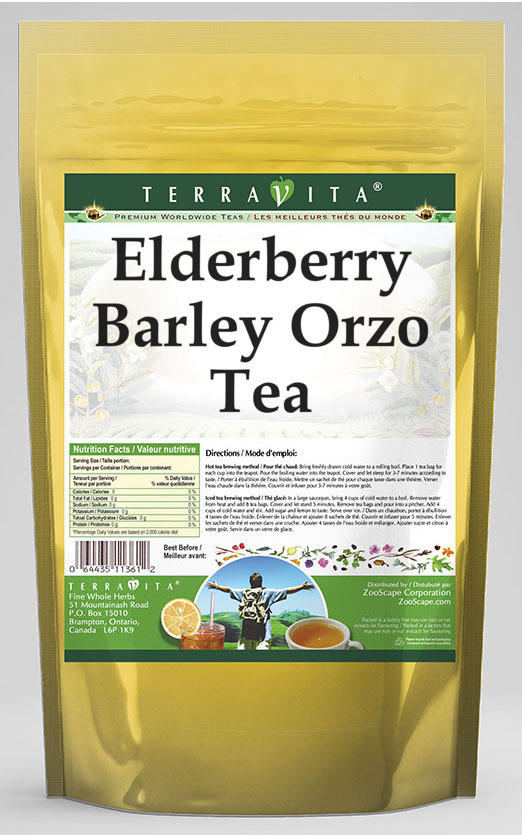 Elderberry Barley Orzo Tea