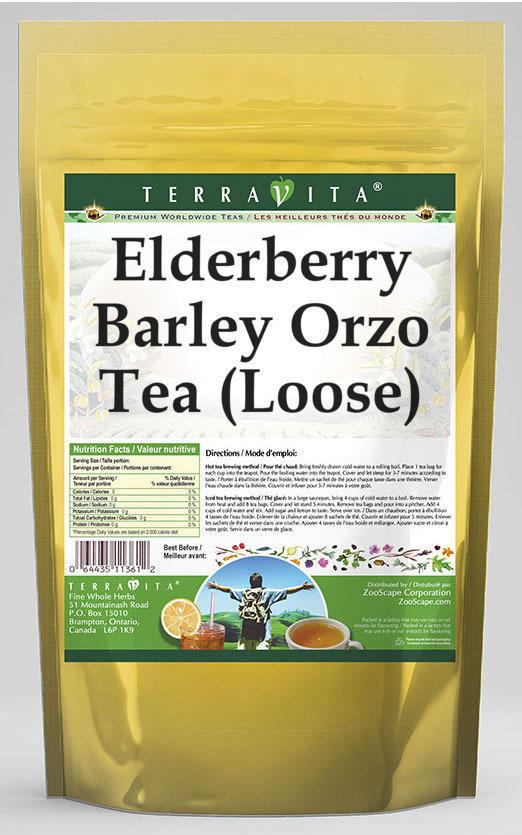 Elderberry Barley Orzo Tea (Loose)