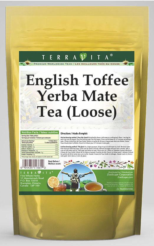 English Toffee Yerba Mate Tea (Loose)