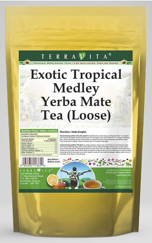 Exotic Tropical Medley Yerba Mate Tea (Loose)