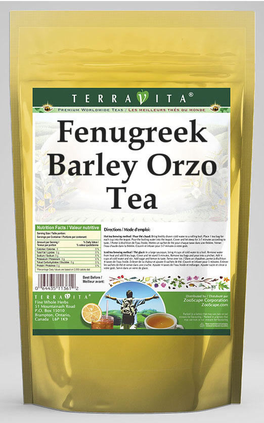 Fenugreek Barley Orzo Tea