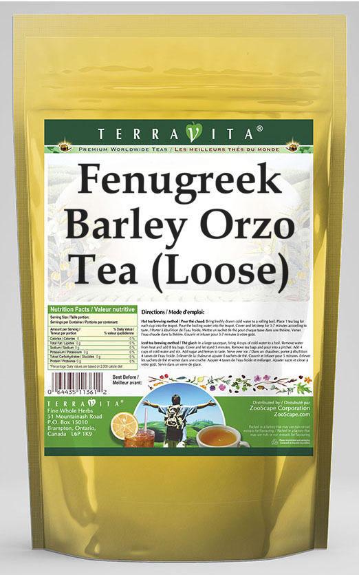 Fenugreek Barley Orzo Tea (Loose)
