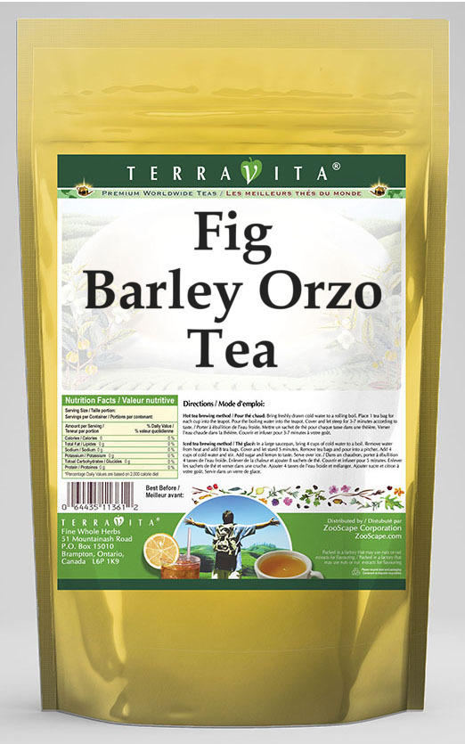 Fig Barley Orzo Tea