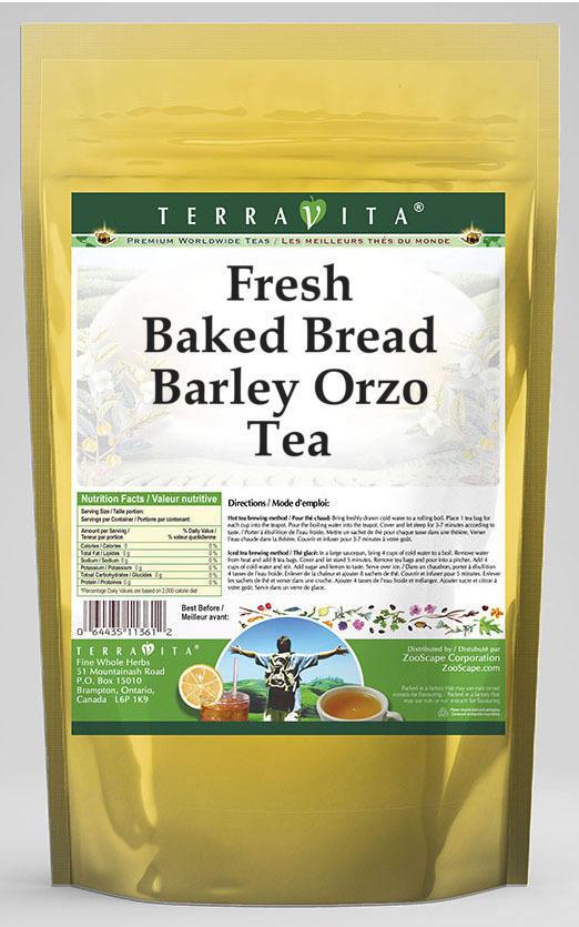 Fresh Baked Bread Barley Orzo Tea