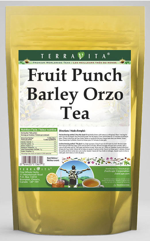 Fruit Punch Barley Orzo Tea