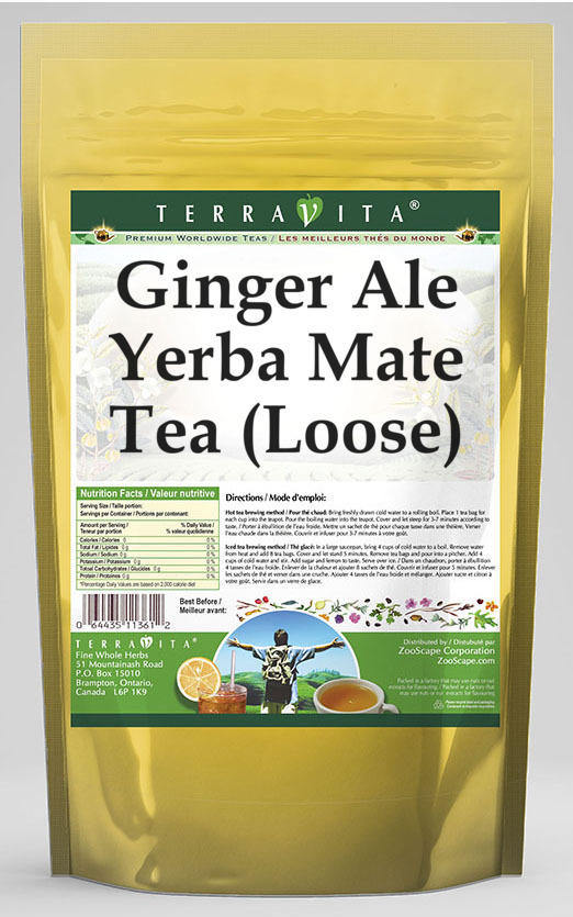 Ginger Ale Yerba Mate Tea (Loose)