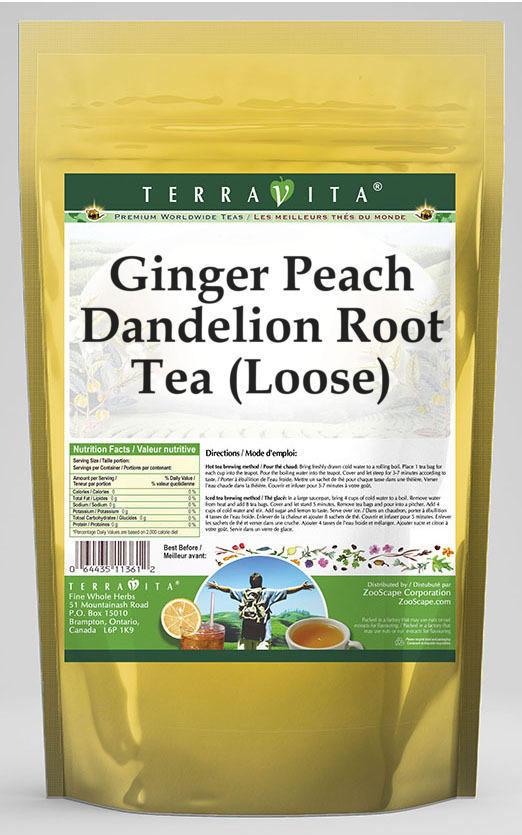 Ginger Peach Dandelion Root Tea (Loose)