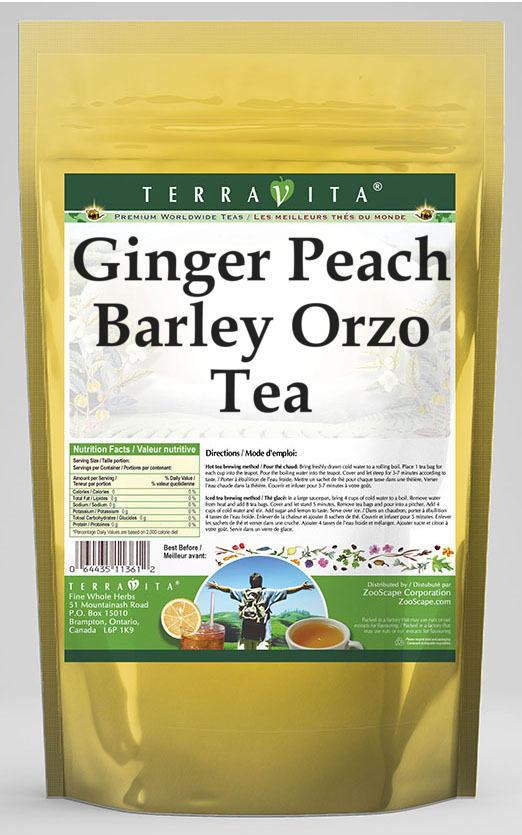 Ginger Peach Barley Orzo Tea