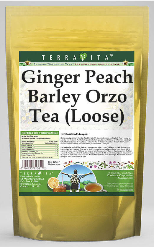 Ginger Peach Barley Orzo Tea (Loose)