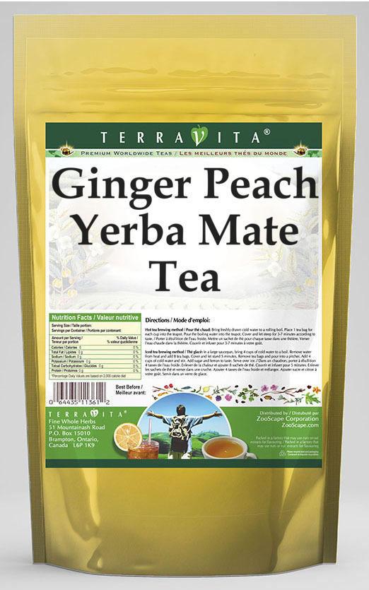 Ginger Peach Yerba Mate Tea