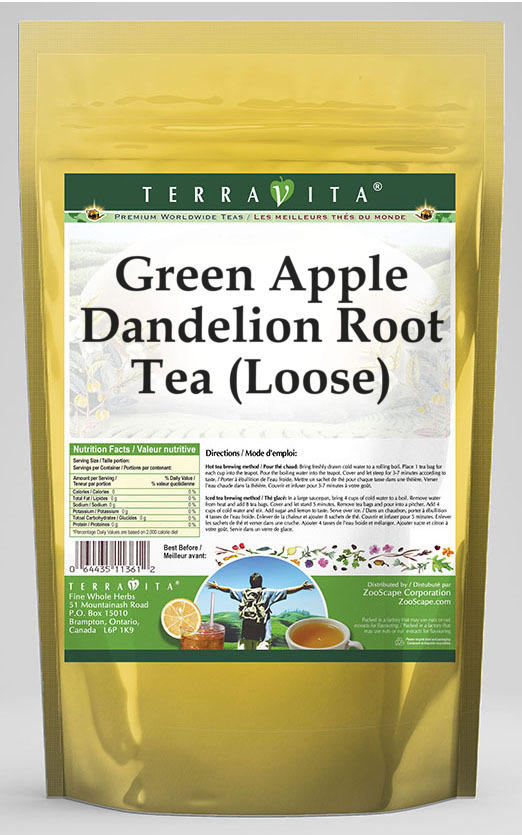 Green Apple Dandelion Root Tea (Loose)