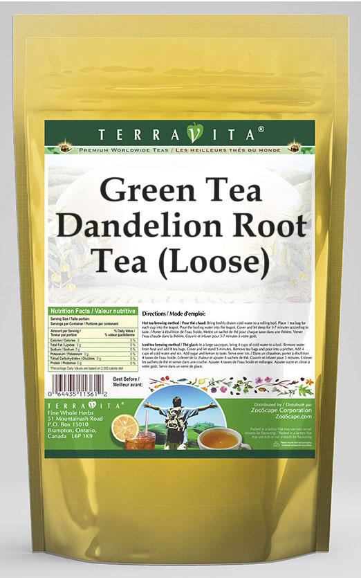 Green Tea Dandelion Root Tea (Loose)