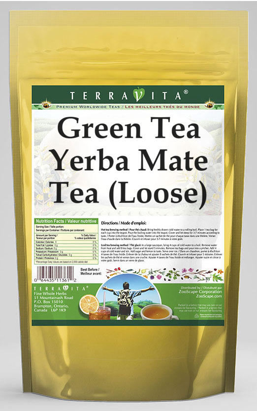 Green Tea Yerba Mate Tea (Loose)