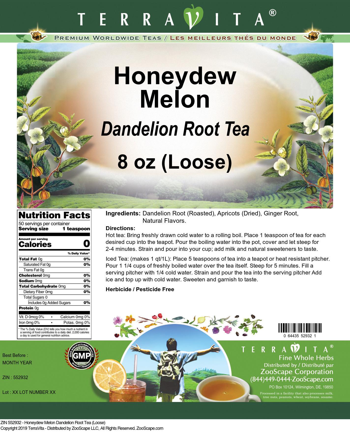 Honeydew Melon Dandelion Root Tea (Loose)