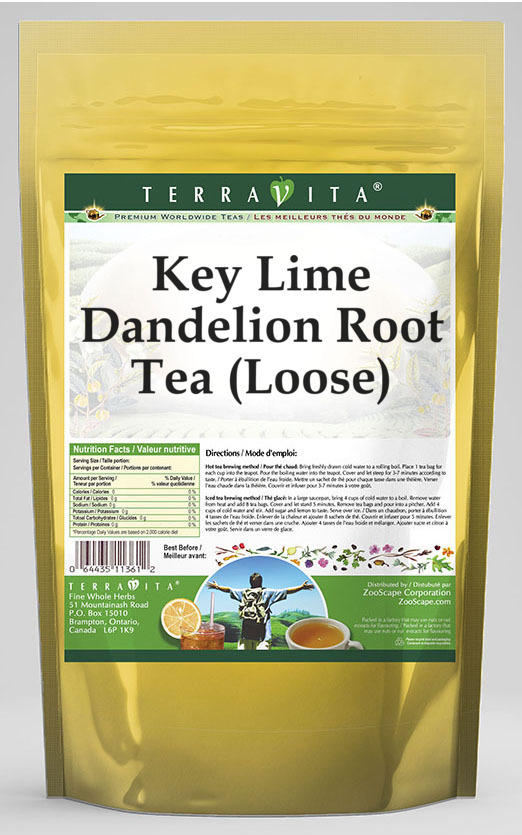 Key Lime Dandelion Root Tea (Loose)