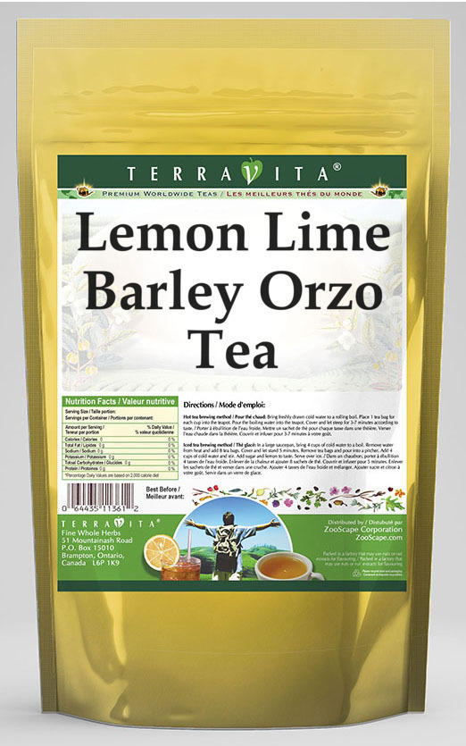 Lemon Lime Barley Orzo Tea