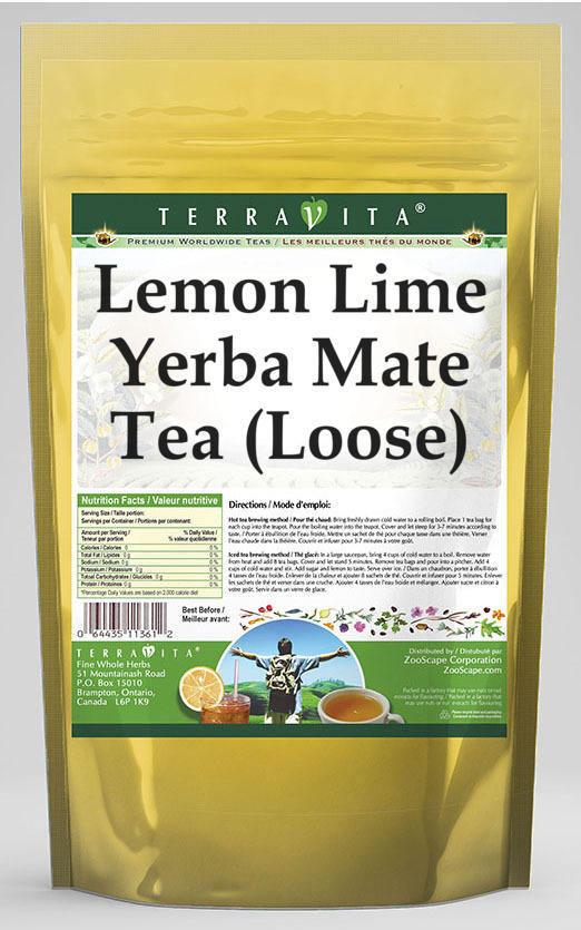Lemon Lime Yerba Mate Tea (Loose)