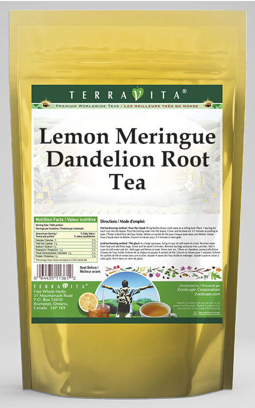 Lemon Meringue Dandelion Root Tea