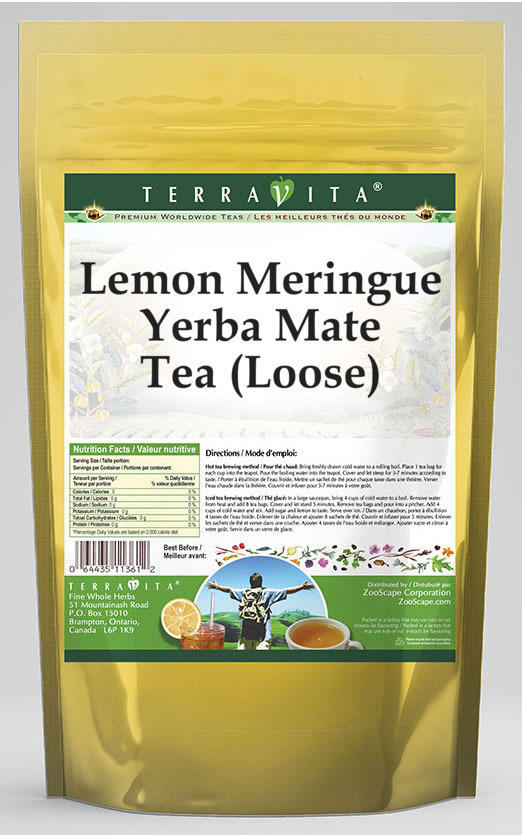 Lemon Meringue Yerba Mate Tea (Loose)