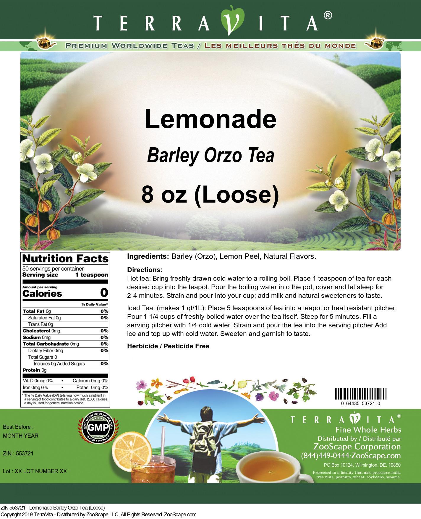 Lemonade Barley Orzo Tea (Loose)